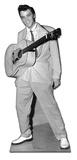 Elvis-Guitar Hanging From Neck Silhouette en carton