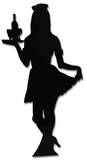 Waitress-Silhouette Pappfigurer