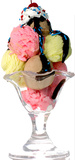 Ice Cream Sundae Lifesize Standup Pappfigurer