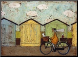 Off for a Breakfast Mounted Print by Sam Toft