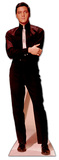 Elvis in Black Suit and White Tie Stand Up