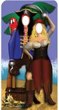 Pirate Couple Stand- In Silhouette en carton