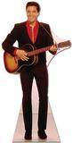 Elvis-Red Shirt and Guitar Silhouette en carton