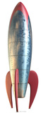 Retro Rocket-1950s Style Silhouette en carton