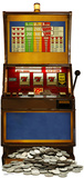 Fruit Machine One Armed Bandit Silhouette d&#233;coup&#233;e
