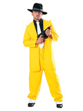 Gangster in Yellow Suit Silhouette découpée