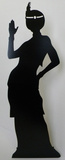 Flapper Girl-Silhouette Stand Up