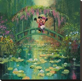Mickey And Minnie at Giverny Limitierte Auflage auf Leinwand von James Coleman