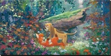 Fox And The Hound Limitierte Auflage auf Leinwand von James Coleman