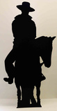 Cowboy on Horse- Silhouette Lifesize Standup Pappfigurer