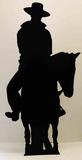 Cowboy on Horse- Silhouette Lifesize Standup Figuras de cartón