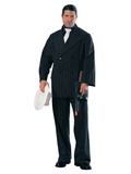 Gangster in Black Pinstripe Suit Pappfigurer