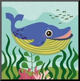 Ocean Friends, Walter Mounted Print by Jenn Ski