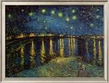 Noite estrelada sobre o Ródano, cerca de 1888 Posters por Vincent van Gogh