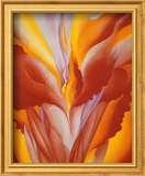 Red Canna Print by Georgia O&#39;Keeffe