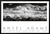 Mt. McKinley Range, Clouds, Denali National Park, Alaska, 1948 Art by Ansel Adams