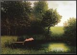 Cochon Kohler Affiche montée sur bois par Michael Sowa