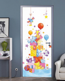 Little Friends Door Wallpaper Mural Wallpaper Mural by Annabell Spenceley