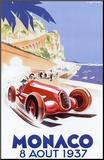 Reclameposter Monaco, 1937 Kunstdruk geperst op hout van Geo Ham