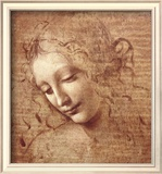 Female Head (La Scapigliata), c.1508 Art by Leonardo da Vinci