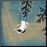 Idź za głosem serca: delikatne huśtanie Umocowany wydruk autor Kristiana Pärn