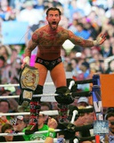 CM Punk WrestleMania XXVIII Action Photo