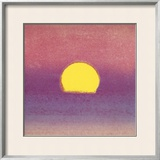 Sunset, c.1972 (pink, purple, yellow) Framed Giclee Print by Andy Warhol