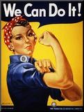 Nós podemos fazê-lo! (Rosie, a Rebitadeira) Impressão montada por J. Howard Miller