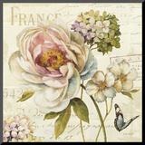 Marche de Fleurs III Affiche montée sur bois par Lisa Audit