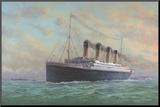 Titanic Filmposter Kunstdruk geperst op hout van Edward Walker