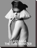Lady Gaga-Free Bitch Bedruckte aufgespannte Leinwand