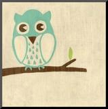 Best Friends - Owl Mounted Print by Chariklia Zarris