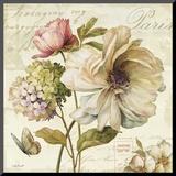 Fluire di fiori II Stampa montata di Lisa Audit