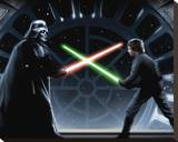 Star Wars-Vader vs Luke Stretched Canvas Print