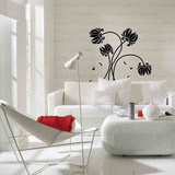 Black Flowers Wall Decal