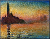 Sunset In Venice Mounted Print by Claude Monet