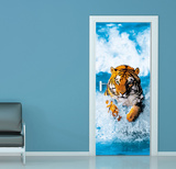 Bengal Tiger Door Wallpaper Mural Wallpaper Mural