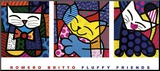 Fluffy Friends Mounted Print by Romero Britto