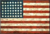 Bandera, 1954 Lmina montada en tabla por Jasper Johns