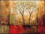 Ochtendschijnsel I Kunstdruk geperst op hout van Mike Klung