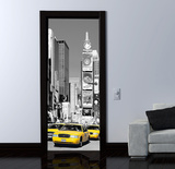 NYC Times Square Door Wallpaper Mural Wallpaper Mural