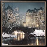 Crepúsculo en Central Park Poster por Rod Chase