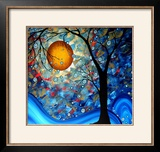 Blue Essence Framed Giclee Print by Megan Aroon Duncanson