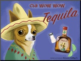 Chi Wow Wow Tequila Mounted Print by Brian Rubenacker