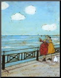 Her Favourite Cloud Mounted Print by Sam Toft