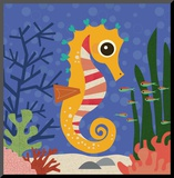 Ocean Friends, Samuel Mounted Print by Jenn Ski