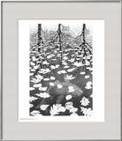 Three Worlds Print by M. C. Escher