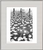Three Worlds Print by M. C. Escher