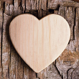 Wooden Heart Prints by Andrea Haase