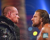 The Undertaker & Triple H WrestleMania XXVIII Action Photo